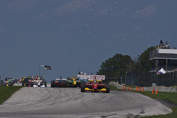 Cars leave the grid