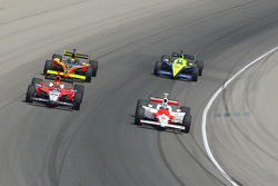 Dan Wheldon, Sam Hornish Jr., Scott Sharp and Vitor Meira