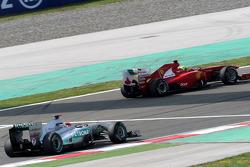 Michael Schumacher, Mercedes GP F1 Team, MGP W02, Felipe Massa, Scuderia Ferrari, F150