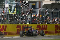 Sebastian Vettel, Red Bull Racing takes the flag