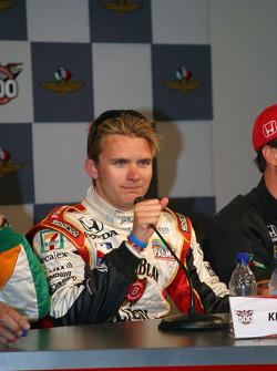 Dan Wheldon at the winner's press conference