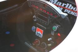 Team Penske's steering wheel and dash readout