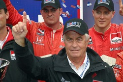 Roger Penske celebrates his first IRL Championship