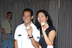 Helio Castroneves and billiards star Jeanette Lee
