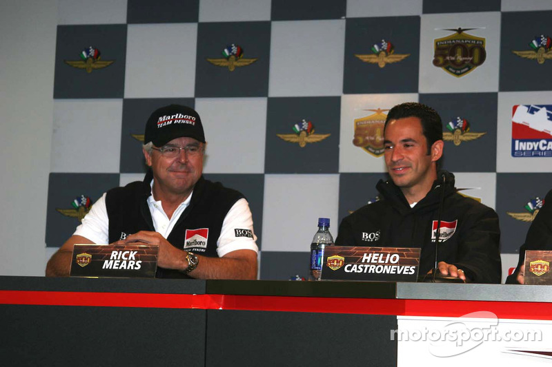 Rick Mears et Helio Castroneves