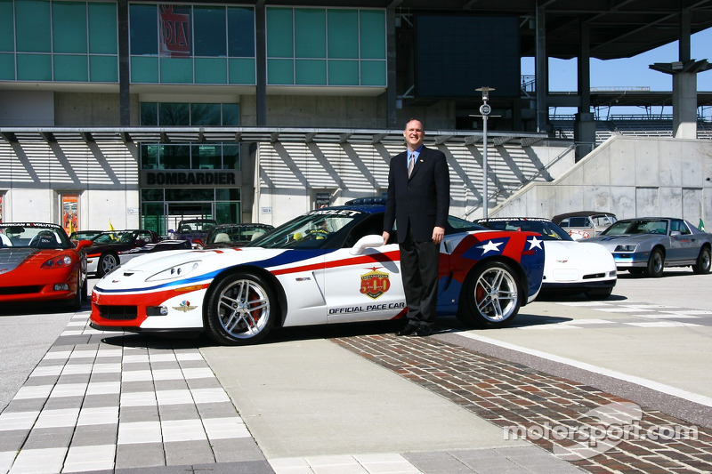 Chevrolet General Manager Ed Peper With The 2006 Chevrolet Corvette