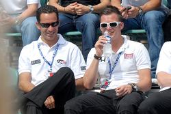 Helio Castroneves, Dan Wheldon, Marco Andretti, Danica Patrick and Tomas Scheckter