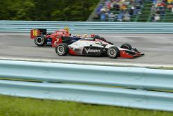 Tomas Scheckter passes Danica Patrick