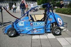 Midget race car on display