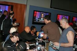 Fans at the autograph session