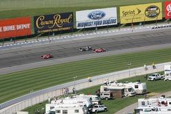 Dan Wheldon, Tomas Scheckter et Scott Dixon