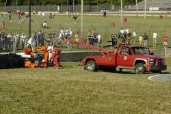 Tomas Scheckter needs a lift