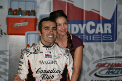 Winners circle: Dario Franchitti and wife Ashley Judd
