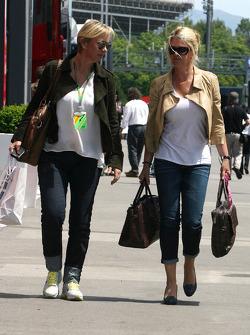 Corina Schumacher, Corinna, wife of Michael Schumacher and Sabine Kehm, Michael Schumacher's press officer