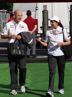 Peter Sauber, Sauber F1 Team, Team Principal, Monisha Kaltenborn, Managing director BMW sauber F1 Team