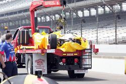 Crashed car of Simona de Silvestro, Nuclear Clean Air Energy HVM Racing