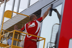 Preparations on the Ferrari Hospitality