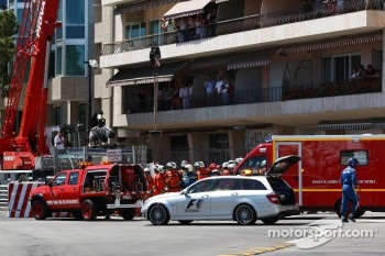 Sergio Perez, Sauber F1 Team crashes