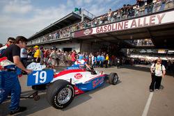 Car of Alex Lloyd, Dale Coyne Racing rolled to pitlane