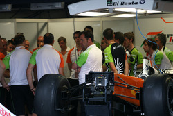Force India F1 Team mechanics meeting
