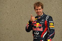Autor de la pole position, Sebastian Vettel, Red Bull Racing