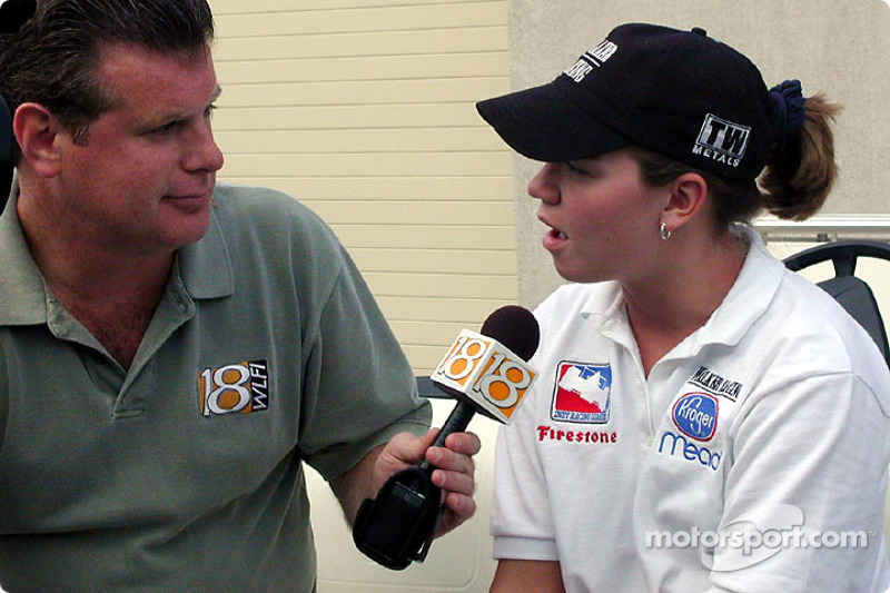 Sarah Fisher enjoying lots of local media attention