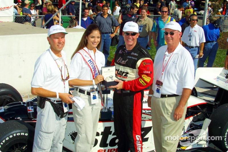 Al Unser Jr. receiving the Lacroix Watch Award