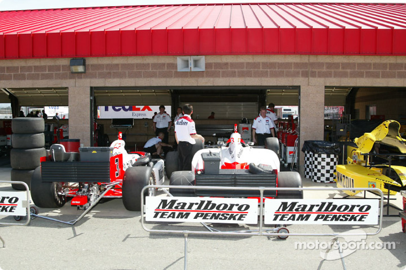 Team Penske garage area