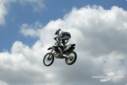 Motocross freestyle riders entertaining the crowds on Pepsi Fun Day