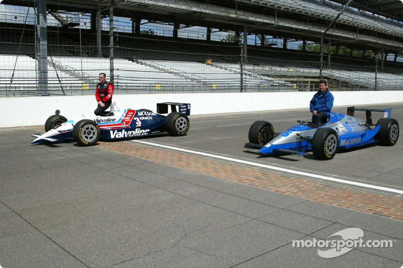 Al Unser Jr. and Scott Goodyear who were involved in the closest finish ever at the Indy 500 in 1997