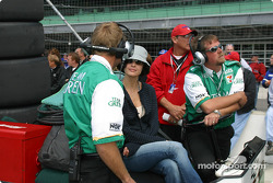 Team Green crew members and Ashley Judd