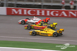 Gil de Ferran, Scott Sharp and Sam Hornish Jr.