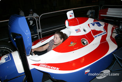 Toyota Indy Feat held in South Beach, Miami: IndyCar simulator