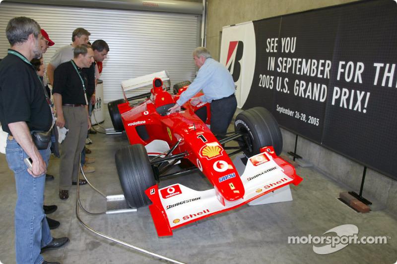 Ferrari F1 on display