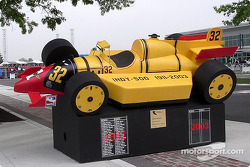 Art in Motion car on display: the composite Indycar 1911-2003