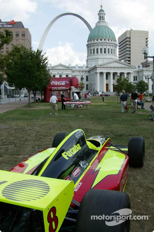 La voiture du Kelley Racing exposés à St. Louis