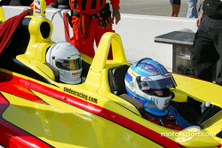 Indy Experience two-seater IndyCar: Sarah Fisher gives a ride to Melissa Hart