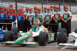 Tony Kanaan with his team