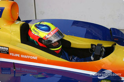 Felipe Giaffone waits for the signal to qualify