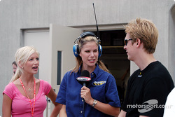 Norma Oteham, ESPN2's Jamie Little and Robby McGehee