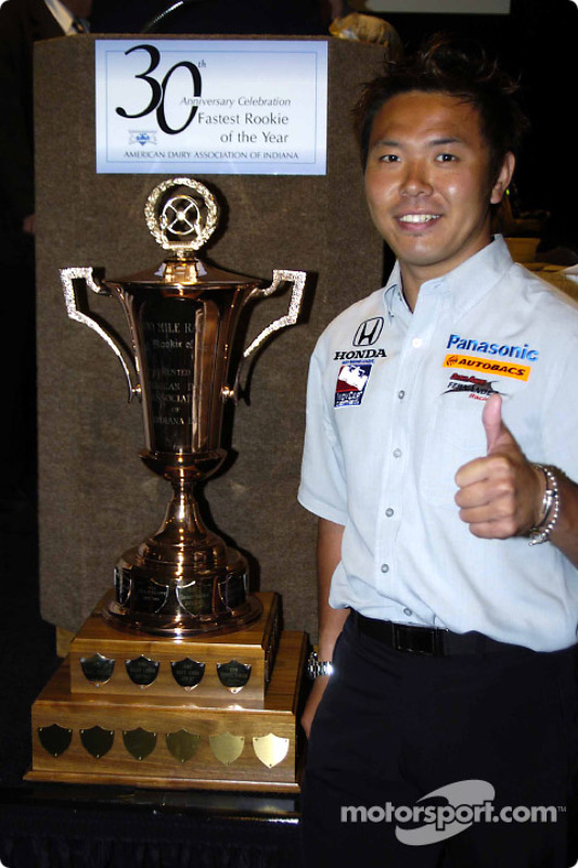 Kosuke Matsuura reçoit le titre de rookie le plus rapide de l'année