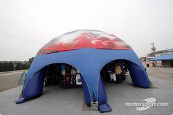 Indy Racing League merchandising area