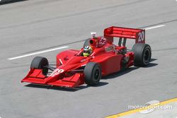 Jaques Lazier rolls onto the pit lane
