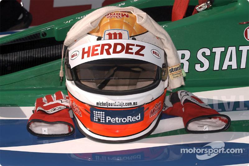 Michel Jourdain Jr.'s helmet