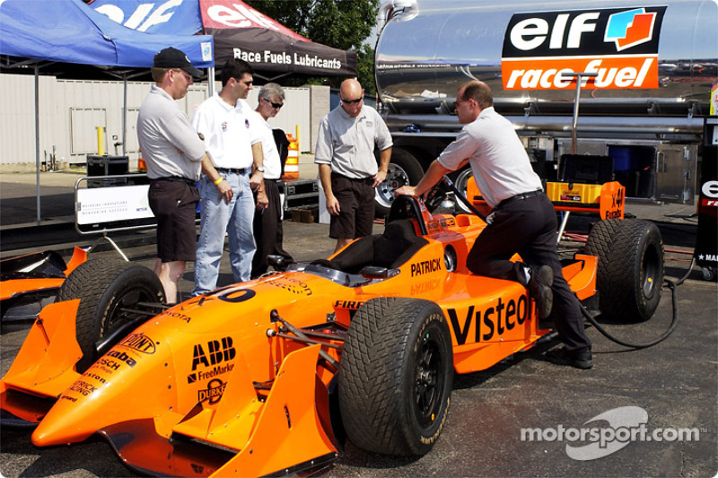 Patrick Racing at fuel pump