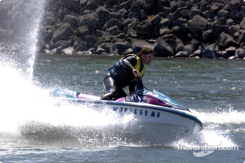 Columbia River Gorge: Alexandre Tagliani on a jetski