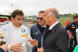 Alex Zanardi, BMW Team Italia, con Giancarlo Minardi y Angelo Sticchi Damiani, Presidente ACI-CSAI