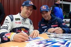 Mattias Ekström, EKS RX, et Sébastien Loeb, Team Peugeot Hansen