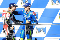 Podio: Ganador Cal Crutchlow, Team LCR Honda, third place Maverick Viñales, Team Suzuki Ecstar MotoGP