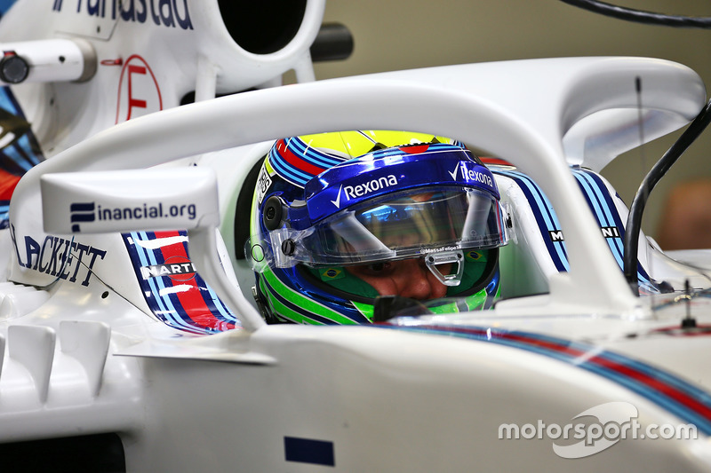 Felipe Massa, Williams FW38 con la cubierta de la cabina de Halo